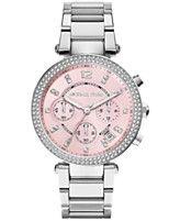 Michael Kors Women's Chronograph Parker Stainless Steel Bracelet Watch 39mm MK6105 - A Macy's Exclusive