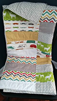 Hipster Baby Quilt.  Great gender neutral fabrics!