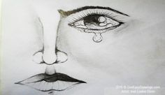 Learn drawing of face with eye tearing using pencil and example of nose and lips drawing by Ivan Louise Dizon. Want to learn how to draw simple eyes? Take a look at this drawing of human eye and analyze the drawing techniques used by the artist. Learn Drawing, Learn To Draw, Cool Easy Drawings, Tears In Eyes, Human Eye, Drawing Techniques, That Look, Pencil, Lips