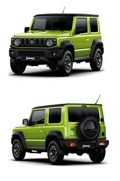 New Suzuki Jimny green | front and rear | Off road SUV