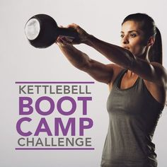 Get ready to bring your workout to the next level with this Kettlebell Boot Camp Challenge!  #kettlebell #workout #challenge