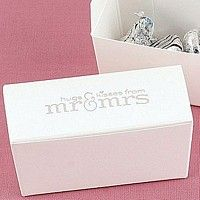 Hugs and Kisses from Mr and Mrs white candy boxes