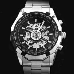 Stainless Steel Mechanical Watch W-304 - Use coupon code TUMBLR10 to get 10% OFF!