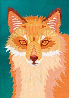Red Fox Art Print  @Kimberly Stearns