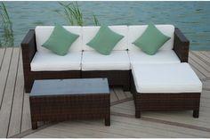 Paris Rattan Garden Furniture & Conservatory Modular Sofa Set