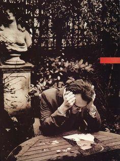 Morrissey doing an Elvis puzzle. by Anton Corbijn
