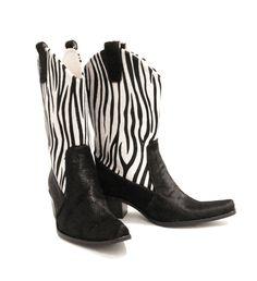 Leather - Zebra Calf Hair