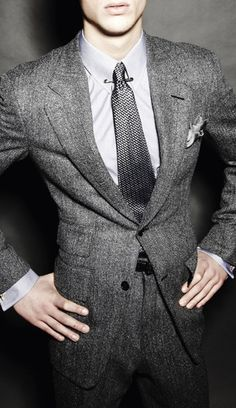 Tom Ford Collection, greys, suit, man fashion