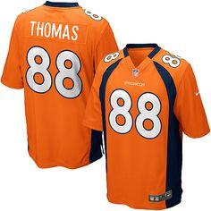 Youth Nike Denver Broncos #88 Demaryius Thomas Elite Orange Team Color NFL Jersey Sale