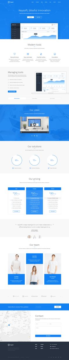 'KeySoft' is a clean responsive One Page template for software, start-up websites and mobile apps. This landing page template has 6 different color schemes, 3 headers and 3 layout variations. My favorite feature is definitely the device slider.