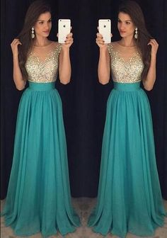 Prom Dresses,Elegant Evening Dresses,Long Formal Gowns,Beaded Party…