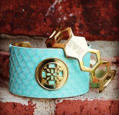 Mother Mint Python Poolside – Rustic Cuff