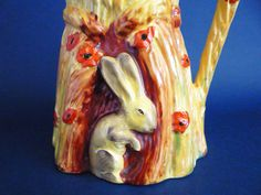 Burleigh ware art deco Harvest Rabbit jug