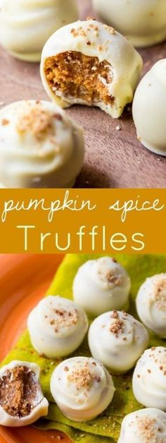 For the best Fall treat, make these pumpkin spice truffles-- they're surprisingly easy and can be coated in white or dark chocolate!
