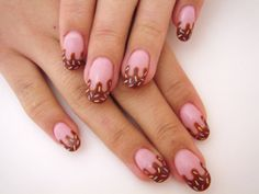 These nail art is so cute. :) #nails #polishes #nailart