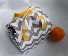 Custom Insulated Bento Box Carrier / Lunch Tote / by binskistudio, $34.00