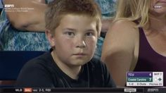 Boy at a baseball game will stare into your soul