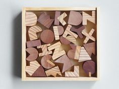 Wood Block Alphabet