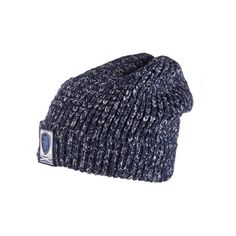 Superdry Lurex Twist Herder Beanie (40 CAD) ❤ liked on Polyvore featuring accessories, hats, blue, blue beanie hat, chunky knit beanie, fleece lined beanie hat, blue beanie y superdry