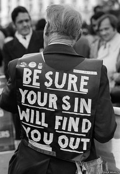 Be Sure Your Sin Will Find You Out. Christian preacher, Speakers Corner, November 1977