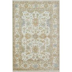 Shop for Ecarpetgallery Hand-knotted Royal Ushak Beige Wool Rug (5'9 x 8'8). Get free shipping at Overstock.com - Your Online Home Decor Outlet Store! Get 5% in rewards with Club O!