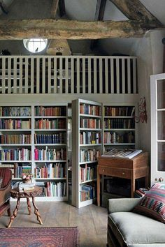 Incredible Home Libraries That Will Blow Your Mind This rustic home library has a hidden door.This rustic home library has a hidden door. Tiny Homes, New Homes, Cabin Homes, Home Libraries, My Dream Home, House Plans, Sweet Home, House Ideas, Interior Design