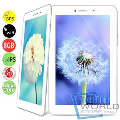 The product is Newsmy NewPad F7 Quad Core 2G/3G Phone Tablet PC w/ MTK8389 7inch IPS Screen 1GB 8GB GPS Bluetooth FM WiFi. It features MTK8389 Cortex-A7 Quad Cores 1.2GHz CPU, Android 4.2 OS, front 2.0MP camera, rear 5.0MP camera, 7inch IPS display, capacitive touch screen, 1024 x 600 pixels resolution, GPS, etc.