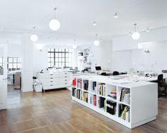 Studio office. Swedish design studio BVD. Photography by Rasmus Norlander.