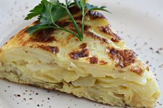 Spanish Tortilla de Patata -all you need is potatoes, eggs, and onions :)