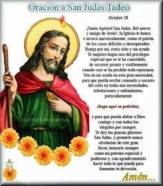 Oraciones Milagrosas Oración Milagrosa A San Judas Tadeo Para Que Nos Conceda Un Importante Milagro Oracion A Judas Tadeo Oración Milagrosa Oraciones