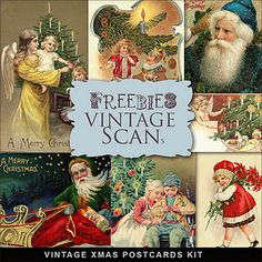Freebies Vintage Xmas Post Cards ~~