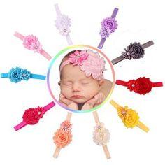 Malloom® 10pcs Bébé élastique Fleur Multicolore Bande de Cheveux Bandeau en Strass: Tweet Contenu du coffret:  10pcs Baby Girl élastique…
