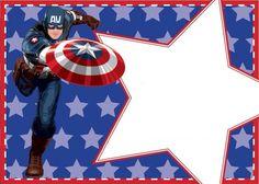 Invitación capitán América                                                                                                                                                                                 Más Captain America Party, Captain America Birthday, Avengers Birthday, Superhero Birthday Party, Birthday Ideas, Anniversaire Captain America, Hero Of The Day, Disney Frames, Marvel Photo