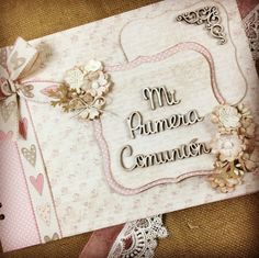 Mini Scrapbook Albums, Communion, Pictures, Signature Book, Mini Albums, Tutorials, Projects To Try, Photos, Drawings