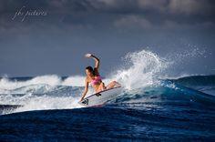 Tia Blanco, professional surfer (Team USA) has a magic style. Taapuna 2014