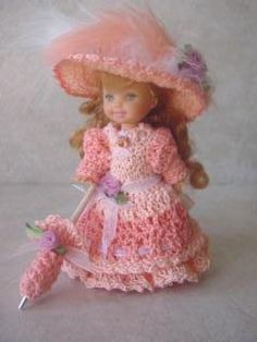 Lots of crochet dresses for Kelly sized dolls ☆