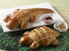 Alligator and Turtle Bread - just like at Boudin Bakery in San Francisco, CA, but not sourdough
