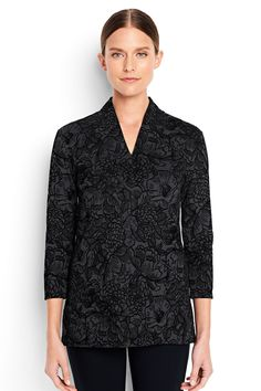 Women's Flocked Ponte Tunic Top from Lands' End