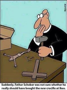 Because religion is laughable. Funny atheist/secular/religious memes, jokes, parody and satirical humour. Christian Cartoons, Christian Humor, Memes Humor, Comedy Memes, Funny Cartoons, Funny Comics, Funny Images, Funny Pictures, Church Humor