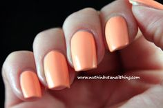 China Glaze Neon On The Shore Collection Sun of a Peach Peach Nail Polish, Peach Nails, Polish Nails, Mani Pedi, Manicure, China Glaze Neon, Nail Nail, Nail Colors, Hair Makeup