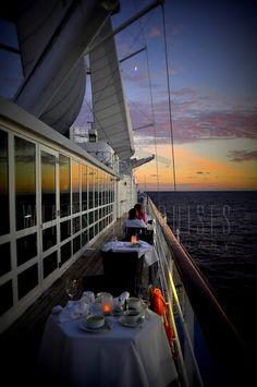 Sunset dinner on board Windstar Cruises   http://windstarcruises.com/