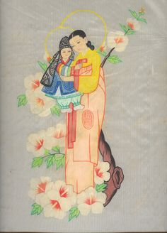 Korean - Madonna with the child.