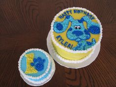 blues clues cake -   Love this for guest and small one for Noah :)