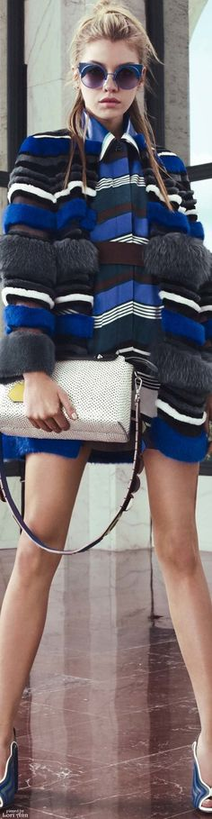 LUXURY BRANDS | Fendi Resort 2017 Collection. Blue, Black, Grey and White are the navy tons and match perfect together in this high end fashion collection | www.bocadolobo.com #luxurybrands #fashion #highend