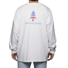 Long Sleeve Patriotic Pine in White | pine and pecan Pre-Order now through 11/08/15