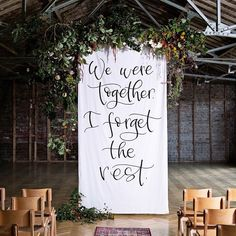 Custom Calligraphy Fabric Banner // Large // Wedding backdrop // Party Decoration // Fabric s. Rustic Wedding Backdrops, Wedding Banners, Banner Backdrop, Wedding Fabric, Wedding Calligraphy, Backdrops For Parties, Banner Design, Brush Lettering, Wedding Blog
