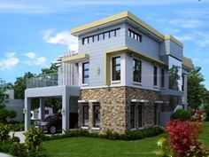 Modern small two story house plans modern small 2 storey house design small modern 3 story house plans Two Storey House Plans, Double Storey House, 2 Storey House, 2 Story House Design, Small House Design, Modern House Design, Small Cottage Designs, 5 Bedroom House Plans, House Design Pictures
