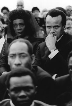 this is an amazing photo - it captures a moment of deep grief  in Coretta Scott King and Harry Belafonte at MLK's funeral