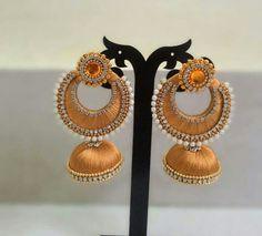 Silk earrings