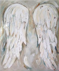 Custom angel wings painting with psalm